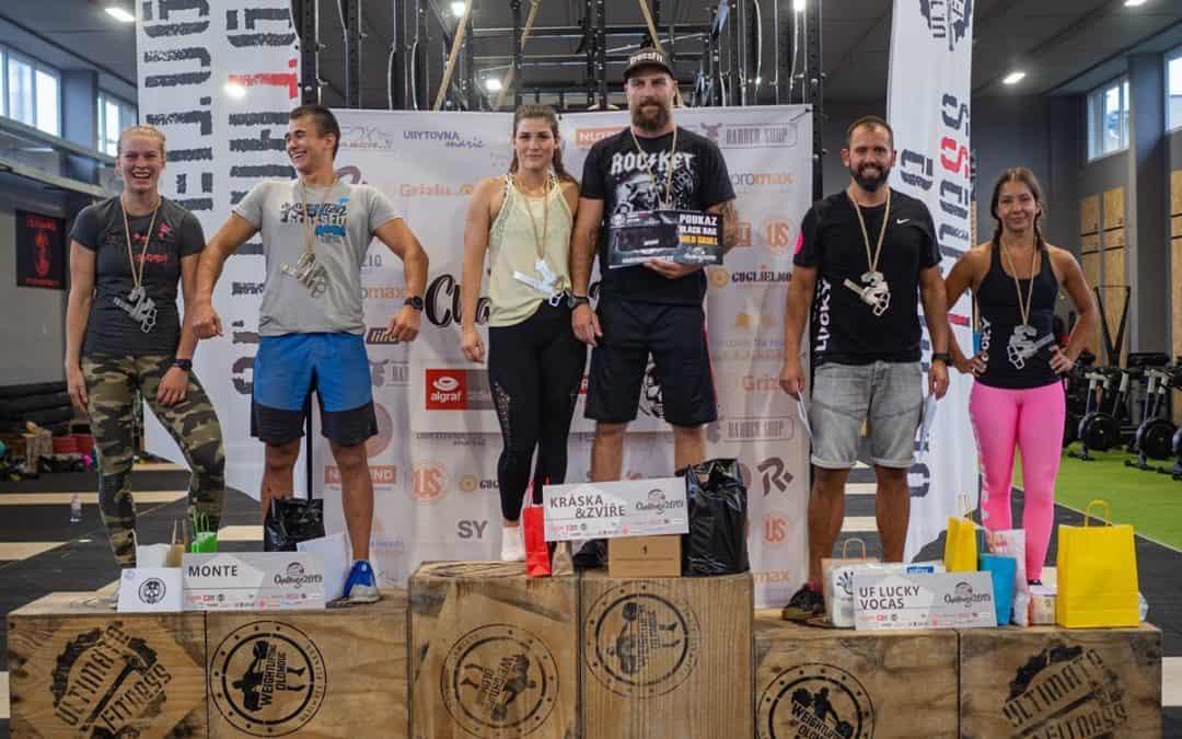 Stupnice vítězů kategorie Mix Ultimate Fitness Challenge 2019